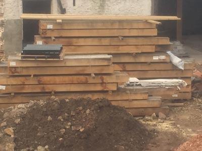 Bespoke oak roof trusses, Midhurst